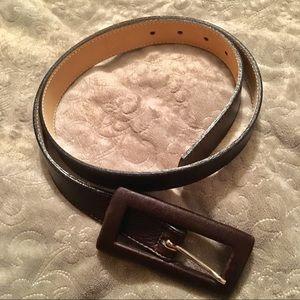 Leatherock Dark Brown Leather Belt